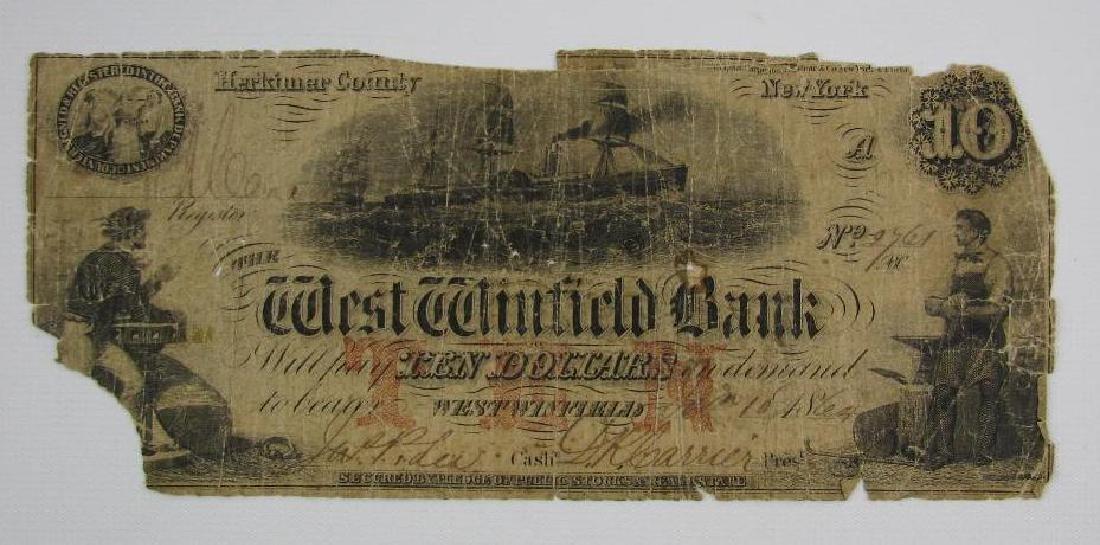 1864 West Winfield Bank, $10 Bill : Herkimer County,