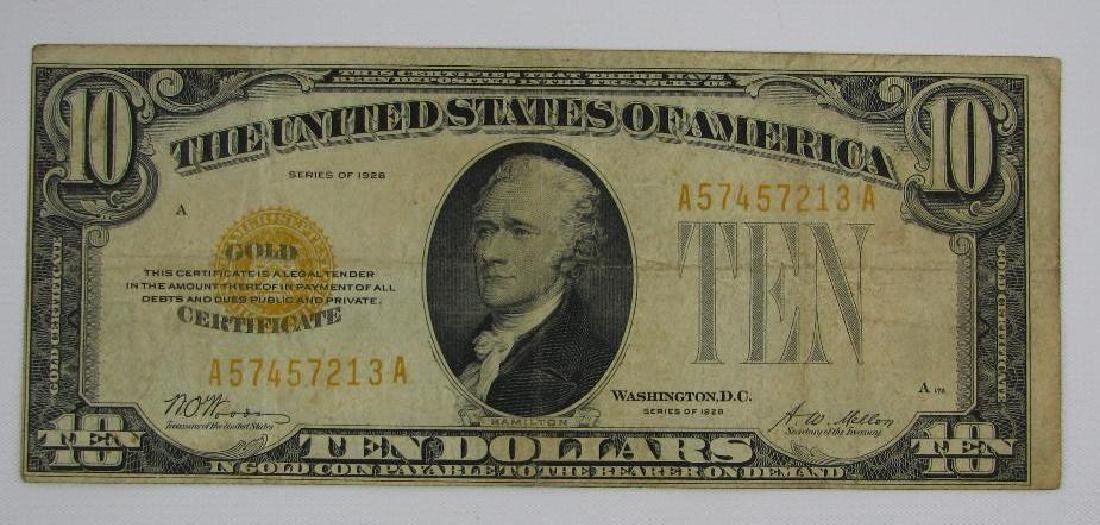 Series of 1928 $10 Gold Certificate