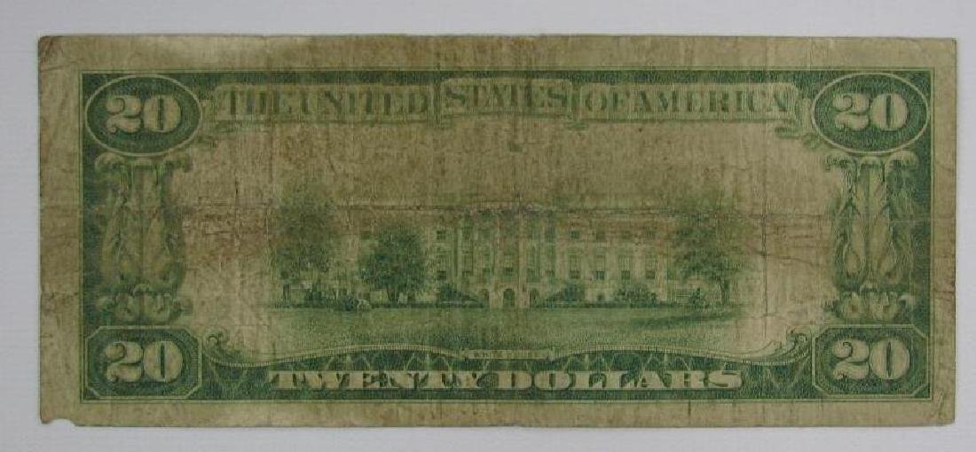 Series of 1929 $20 National Currency Note - 2
