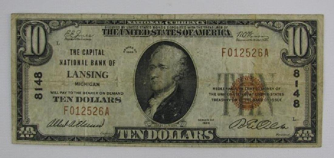 Series of 1929 $10  National Currency Note