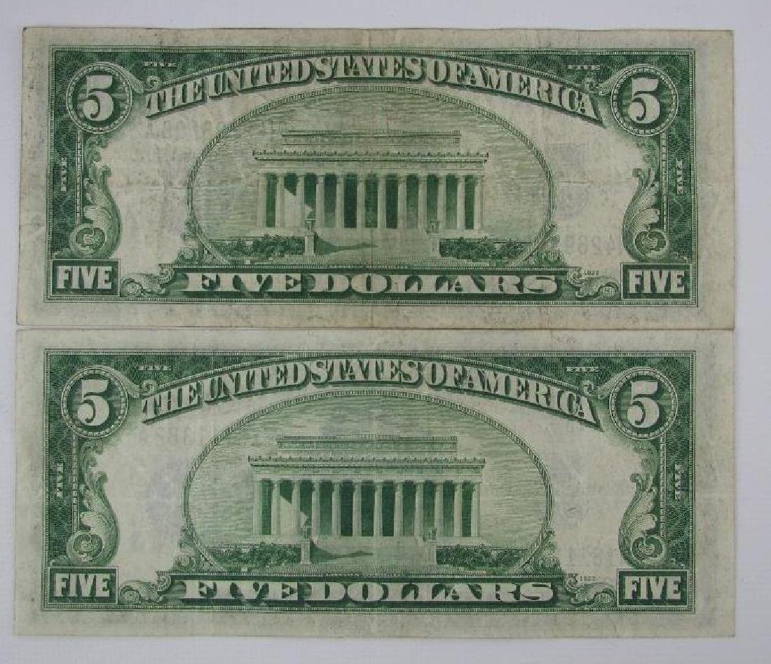 Lot of 7 : Series of 1934A $5 Silver Certificates - 3