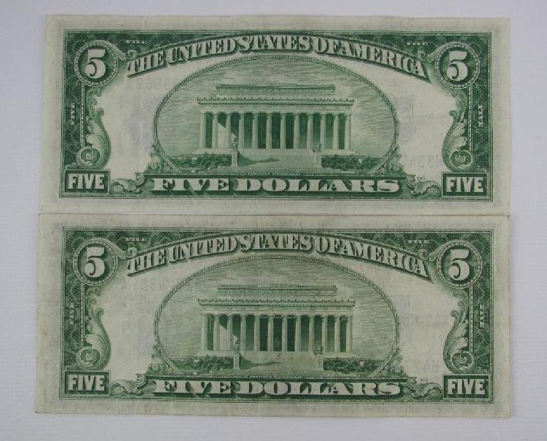 Lot of 7 : Series of 1934A $5 Silver Certificates - 5