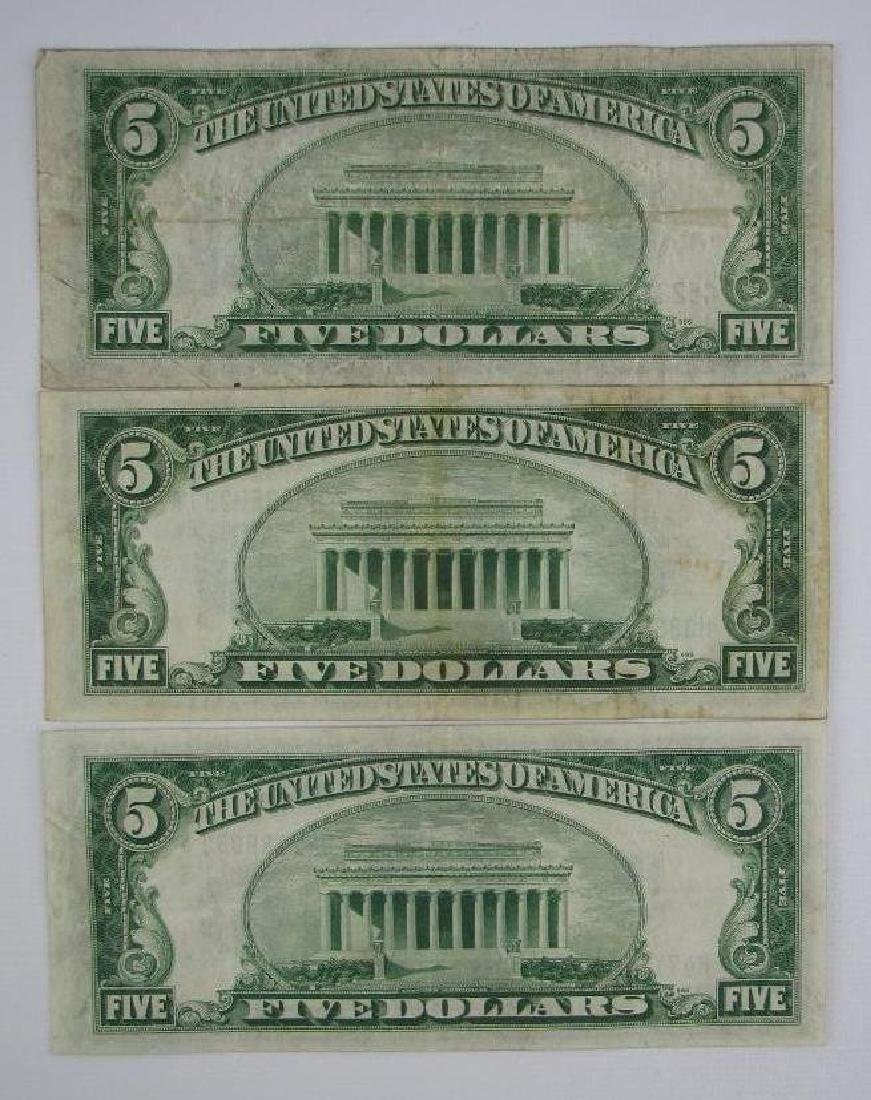 Lot of 7 : Series of 1934A $5 Silver Certificates - 7