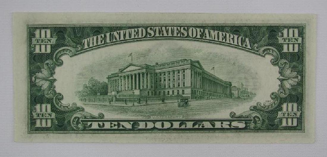 Series of 1934D $10 Federal Reserve Note - Green Seal - 2