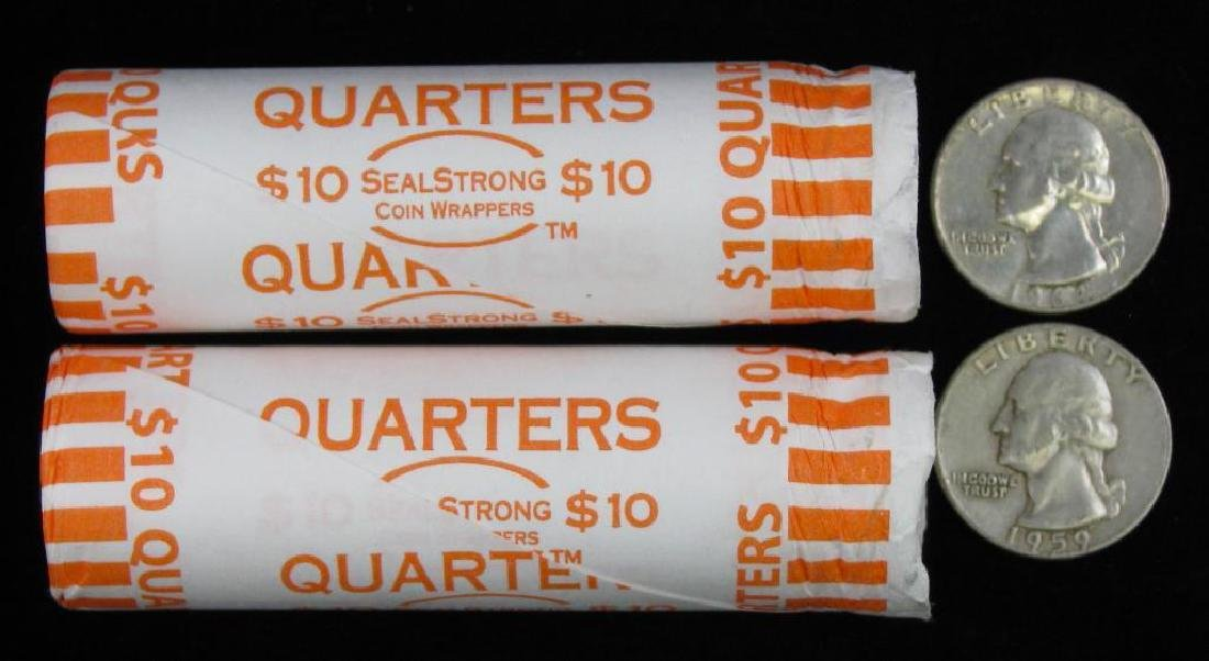 Lot of 2 Rolls : Washington Quarters