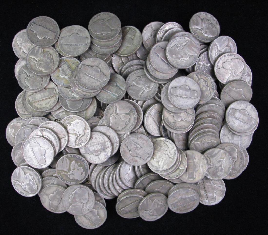 Lot of 200 : Jefferson Nickels (1942-1945) - War