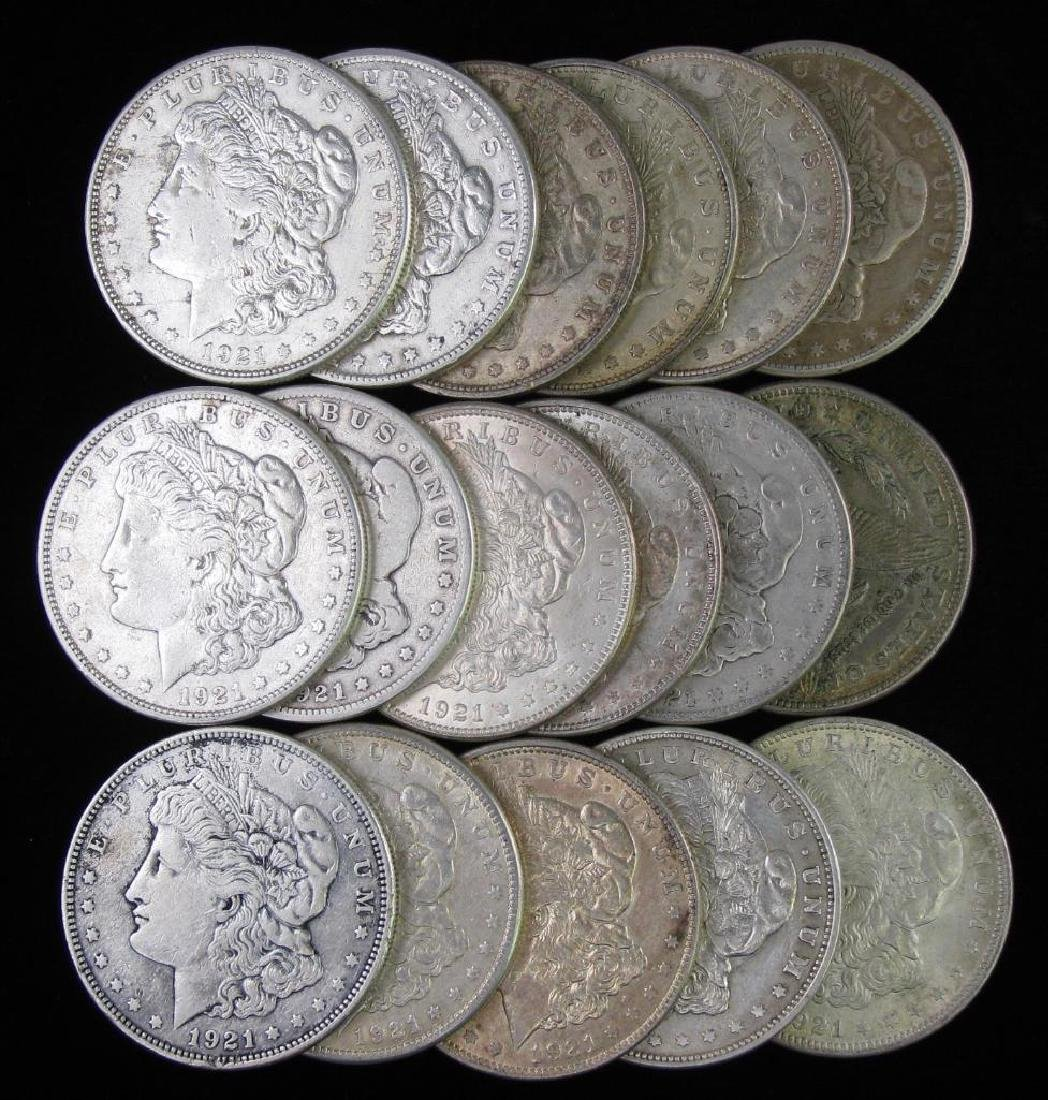 Lot of 17 : Morgan Dollars (1921)