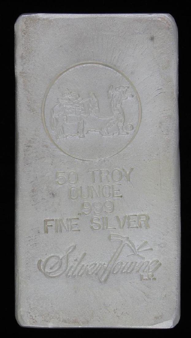 50 Troy Ounce .999 Silver Bar