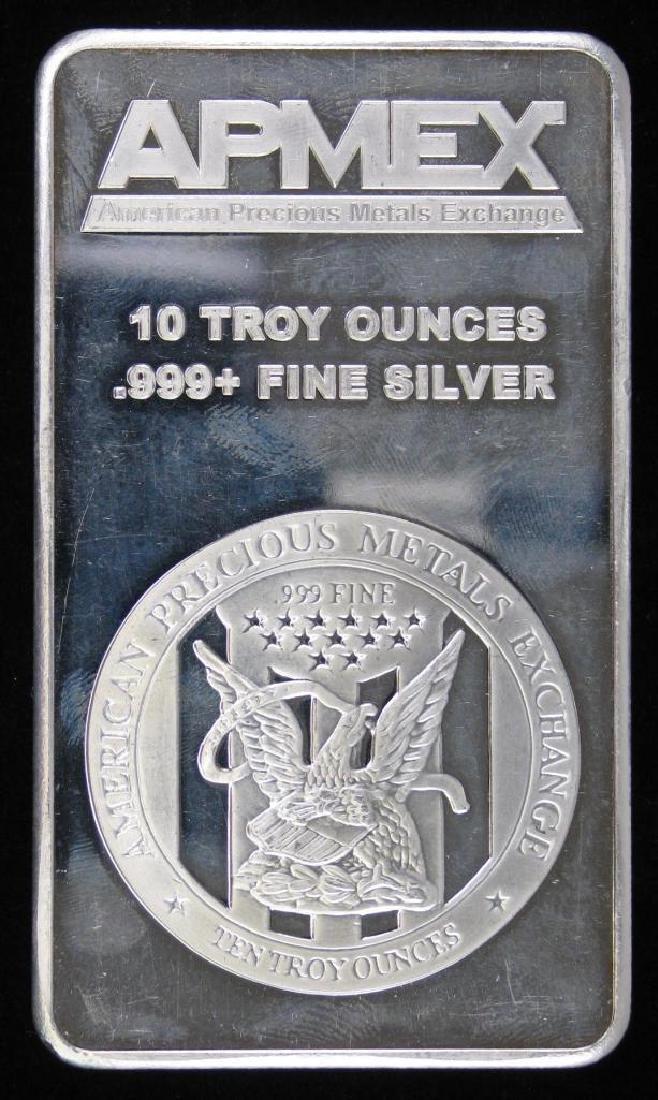 10 Troy Ounce APMEX .999 Silver Bar - 2