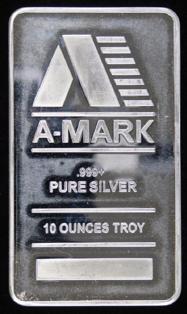 10 Troy Ounce A-Mark .999 Silver Bar