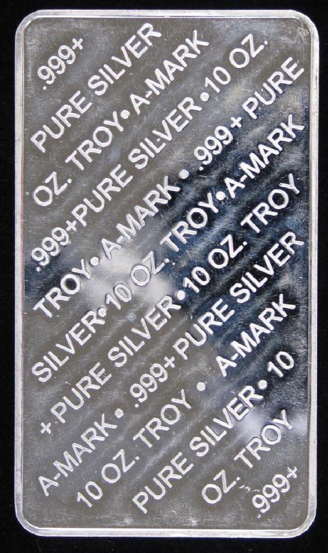 10 Troy Ounce A-Mark .999 Silver Bar - 2