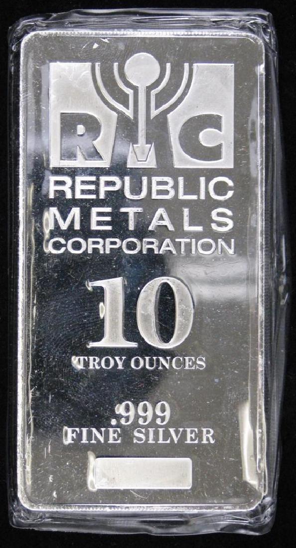 10 Troy Ounce RC Republic Metals Corporation .999
