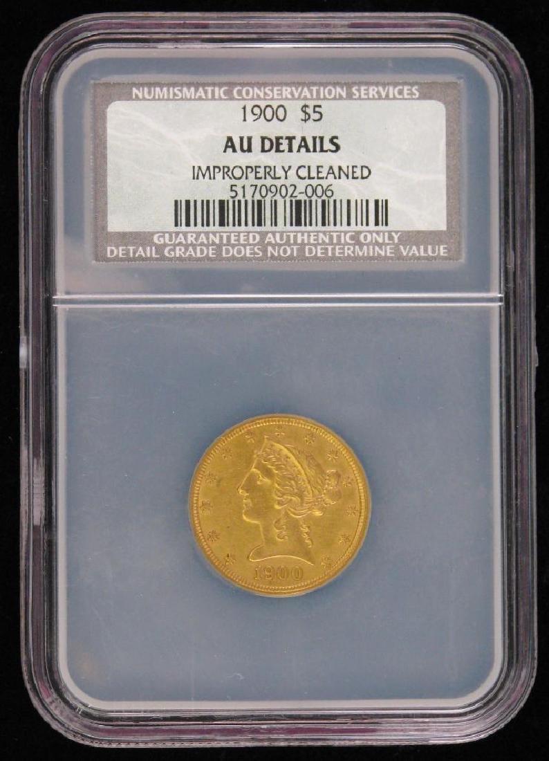 1900 Liberty Head $5 Gold Piece