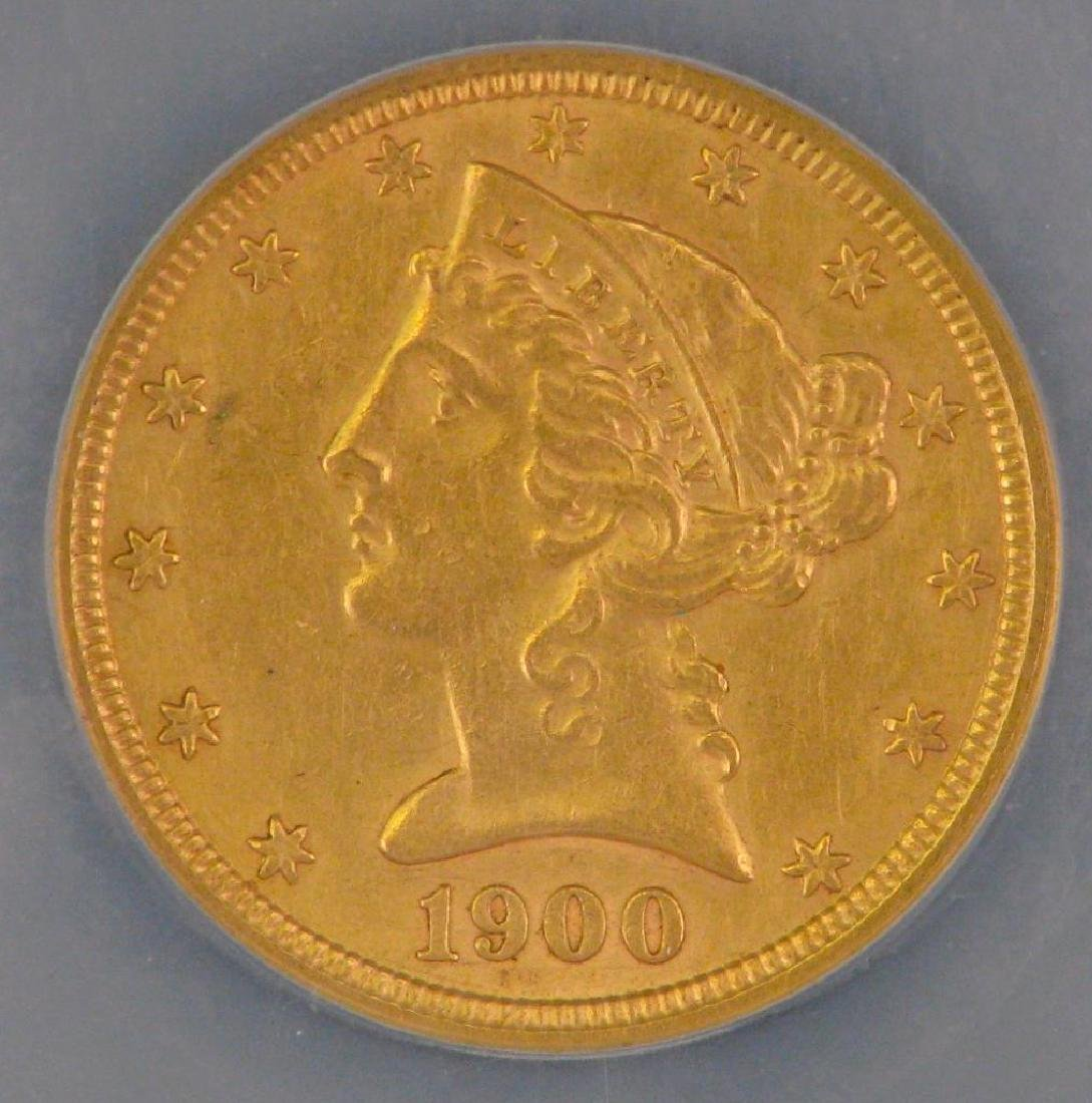 1900 Liberty Head $5 Gold Piece - 3