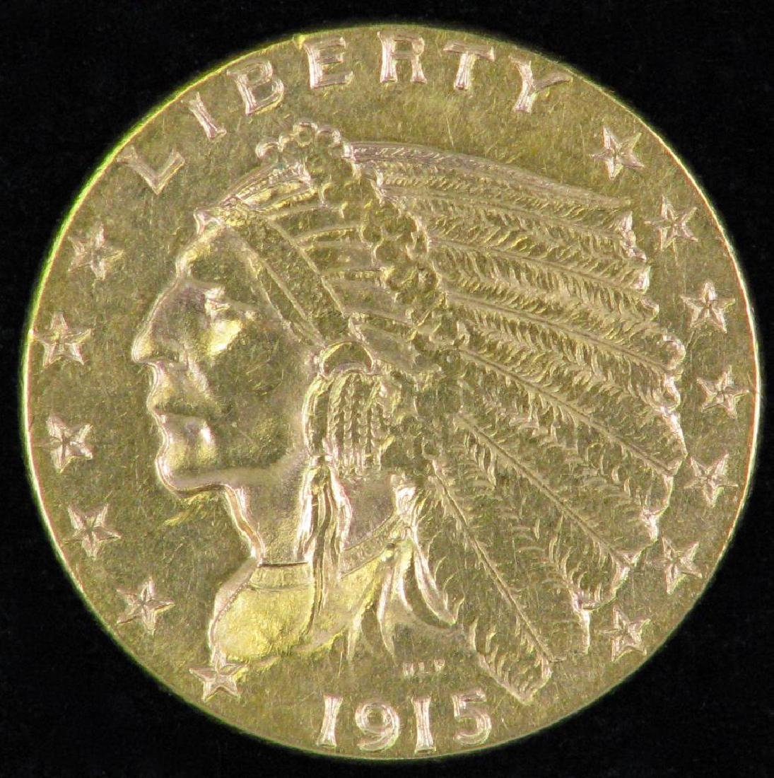 1915-P Indian Head Quarter Eagle