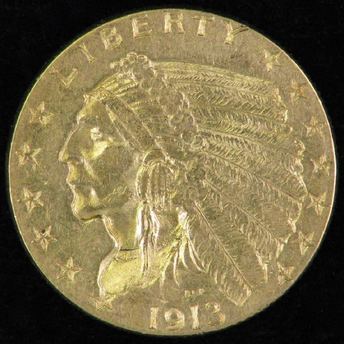 1913-P Indian Head Quarter Eagle
