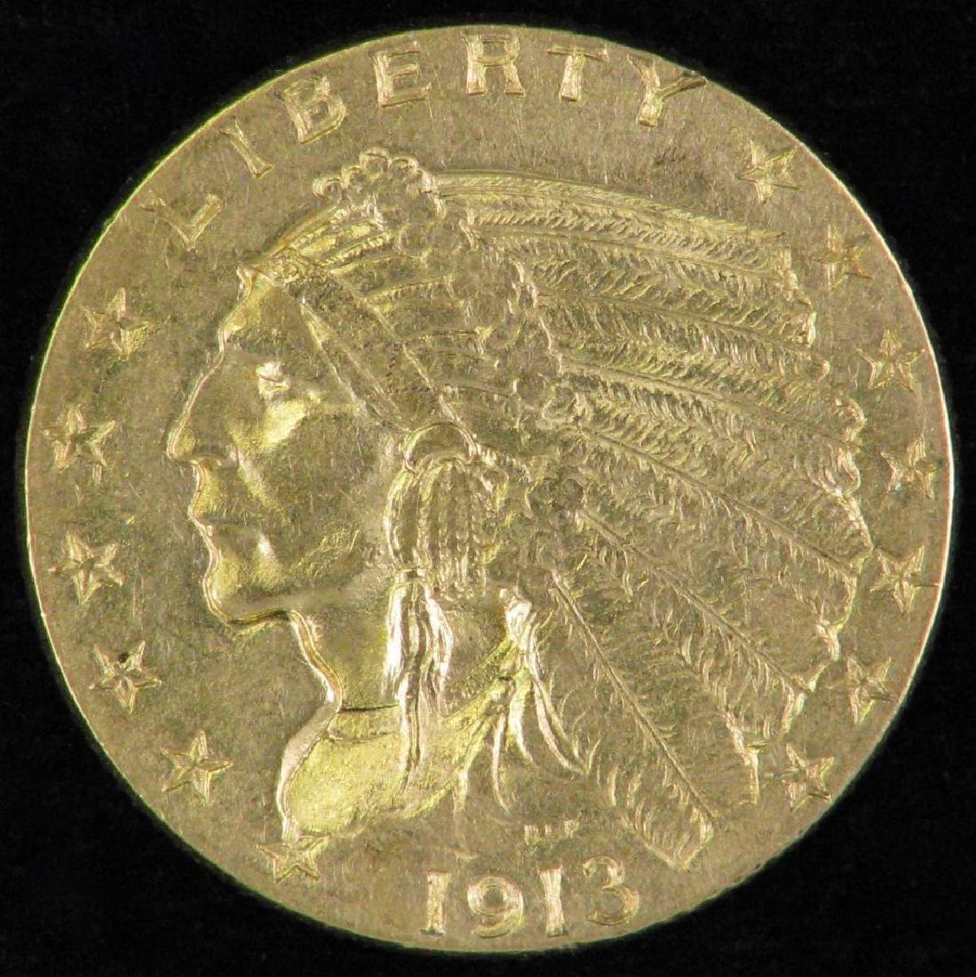 1913-P Indian Head Quarter Eagle