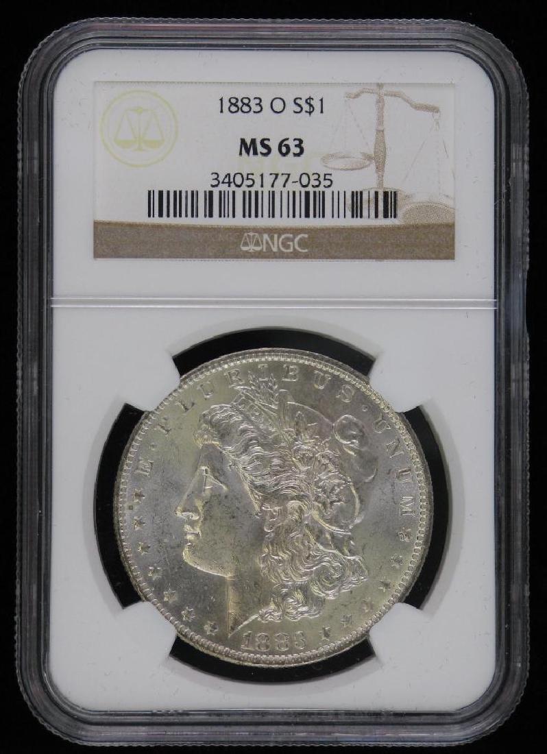 1883-O Morgan Dollar NGC MS63