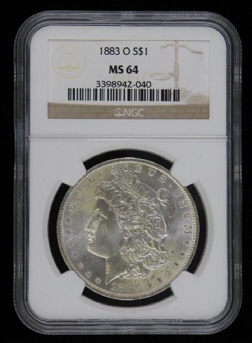 1883-O Morgan Dollar NGC MS64