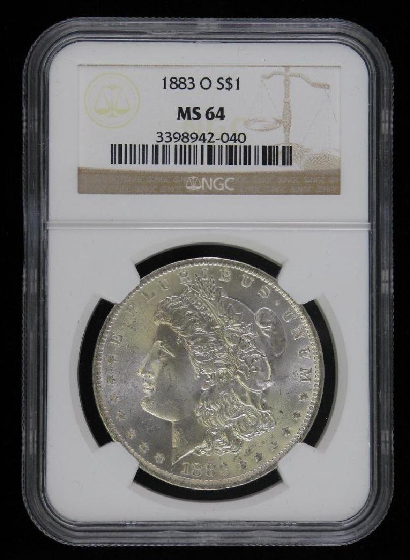 1883-O Morgan Dollar NGC MS64