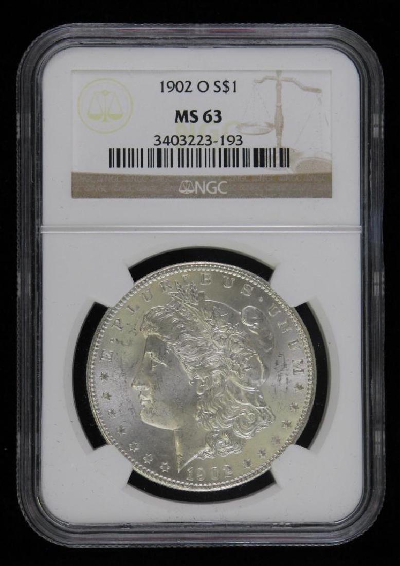 1902-O Morgan Dollar NGC MS63