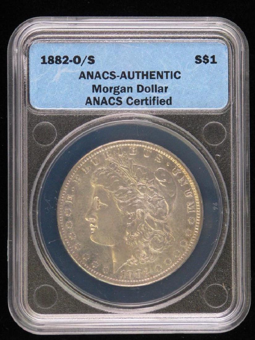 1882-O over S Morgan Dollar