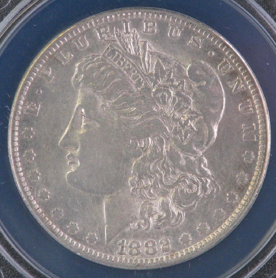 1882-O over S Morgan Dollar - 3