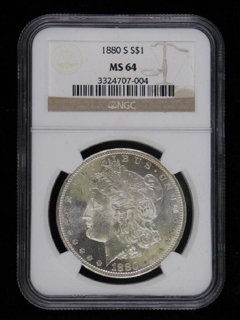 1880-S Morgan Dollar NGC MS64
