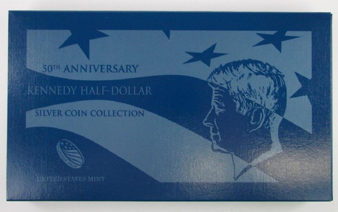 50th Anniversary Kennedy Half Dollar Silver Coin