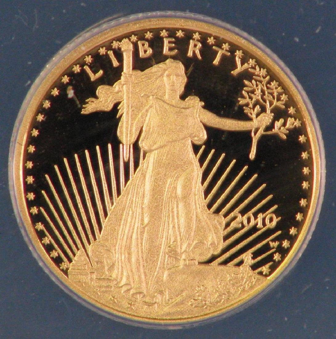 "2010-W $5 Gold Eagle : ""First Day of Issue"" - 3"