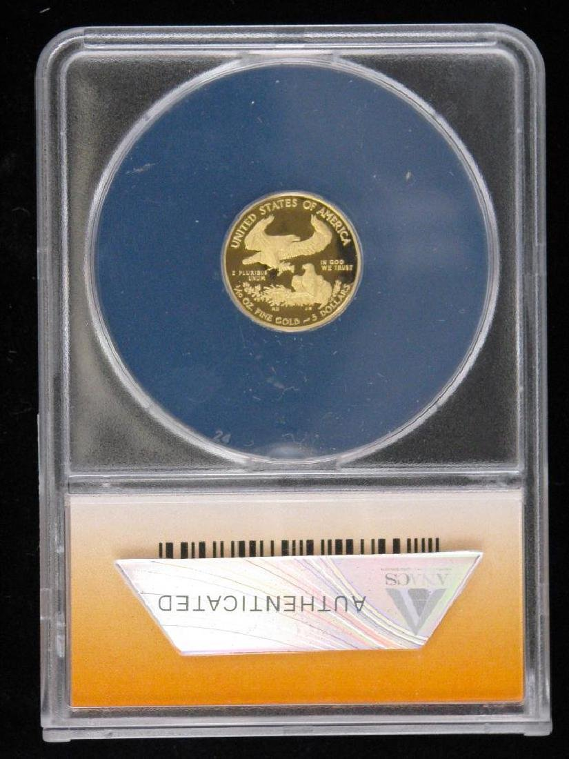 """2011-W $5 Gold Eagle : """"First Day of Issue"""" - 2"""