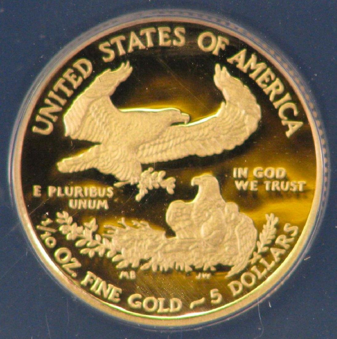 """2011-W $5 Gold Eagle : """"First Day of Issue"""" - 4"""