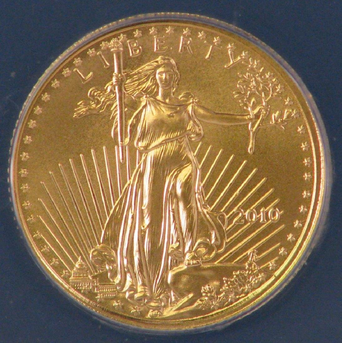 "2010 $5 Gold Eagle : ""First Day of Issue"" - 3"