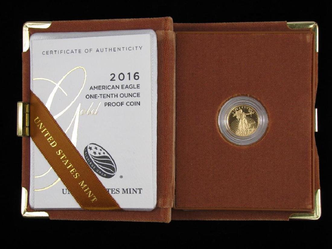 2016-W $5 Gold Eagle : Gold Proof Coin