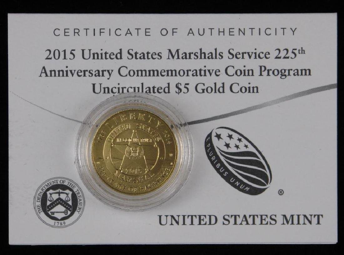 2016-W $5 Gold Proof Commemorative Coin - 3