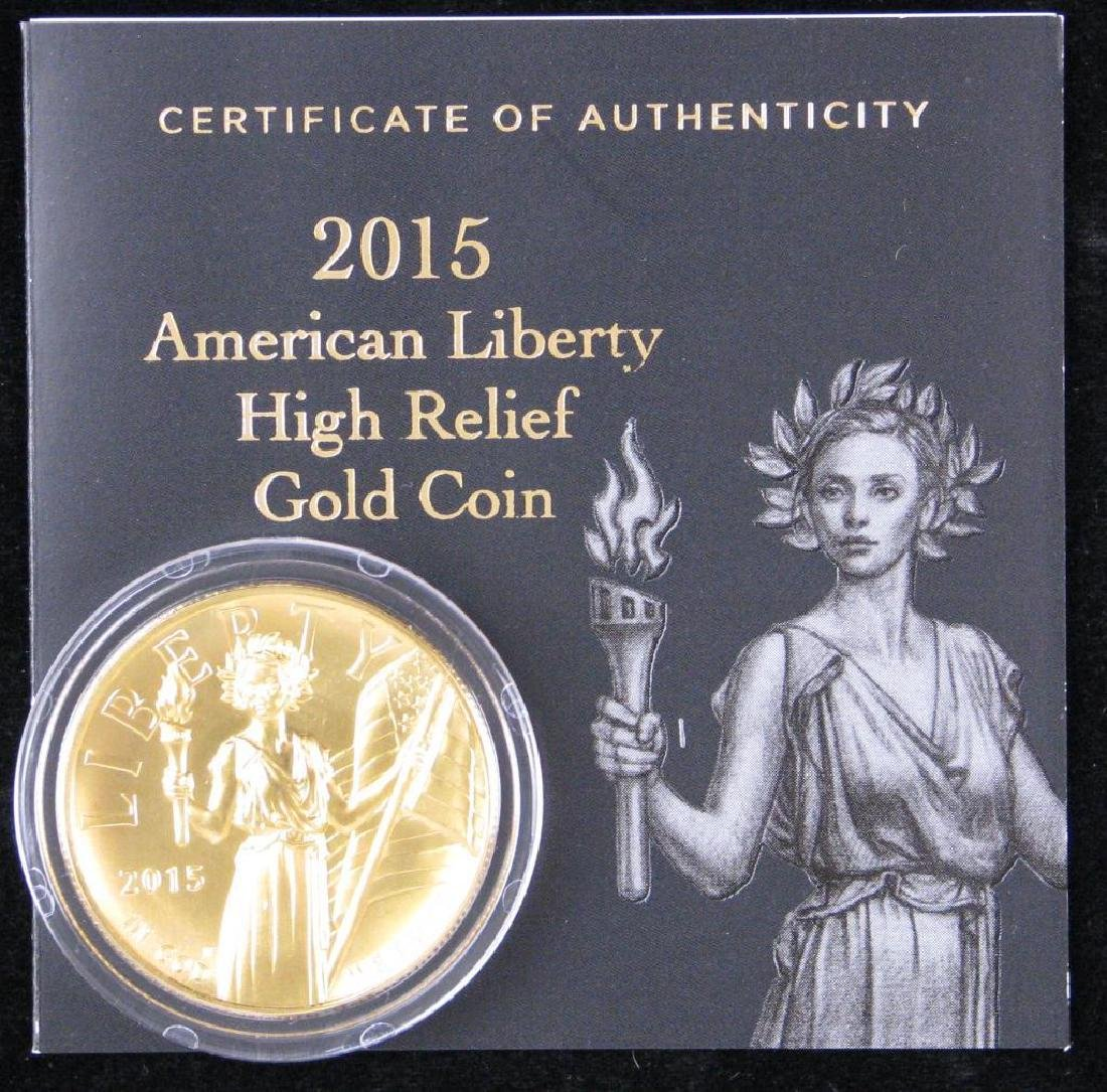 "2015-W $100 ""American Liberty"" High Relief Gold Coin - 4"