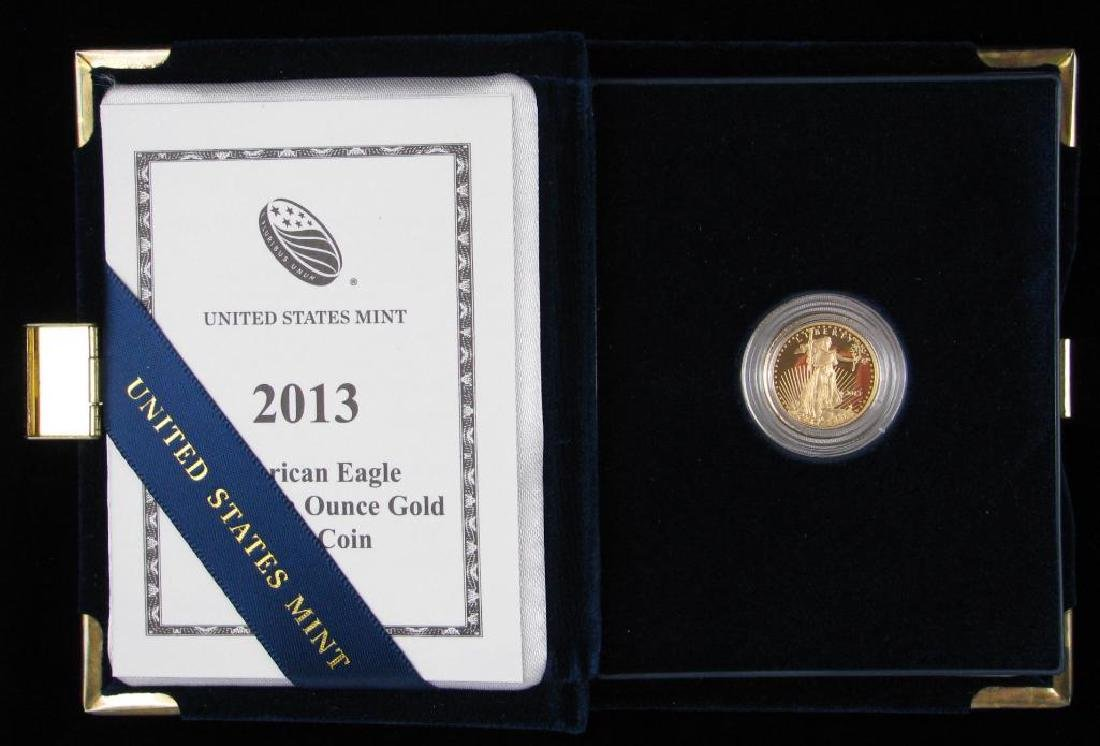 2013-W $5 Gold Eagle : Gold Proof Coin - 3