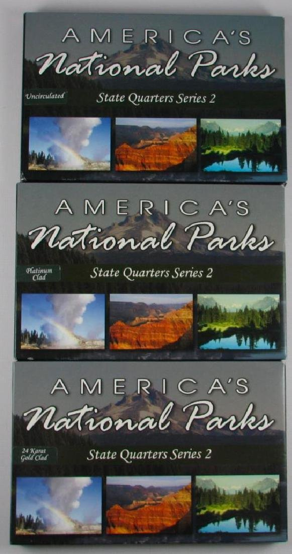 Lot of 3 Types : 2010 America's National Parks State