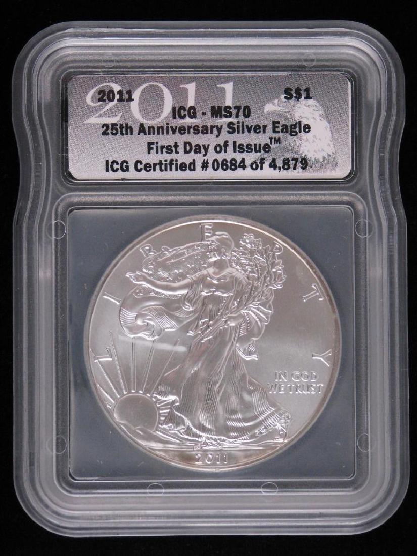 2011 Silver Eagle : 25th Anniversary Silver Eagle