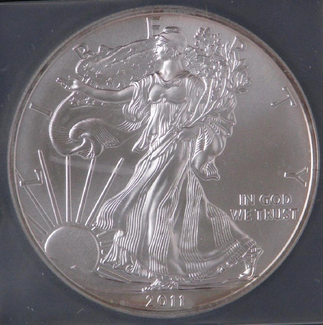 2011 Silver Eagle : 25th Anniversary Silver Eagle - 3