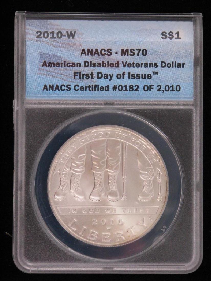 2010-W American Disabled Veterans Dollar Commemorative