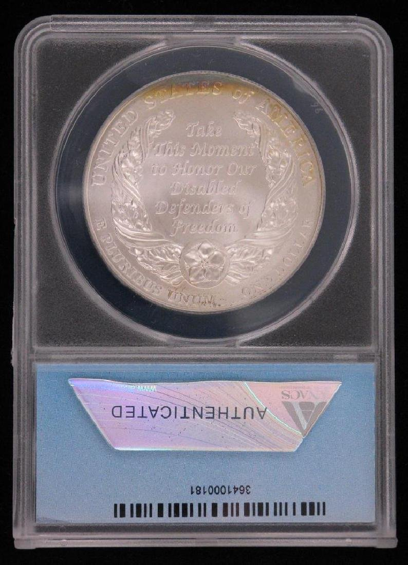2010-W American Disabled Veterans Dollar Commemorative - 2