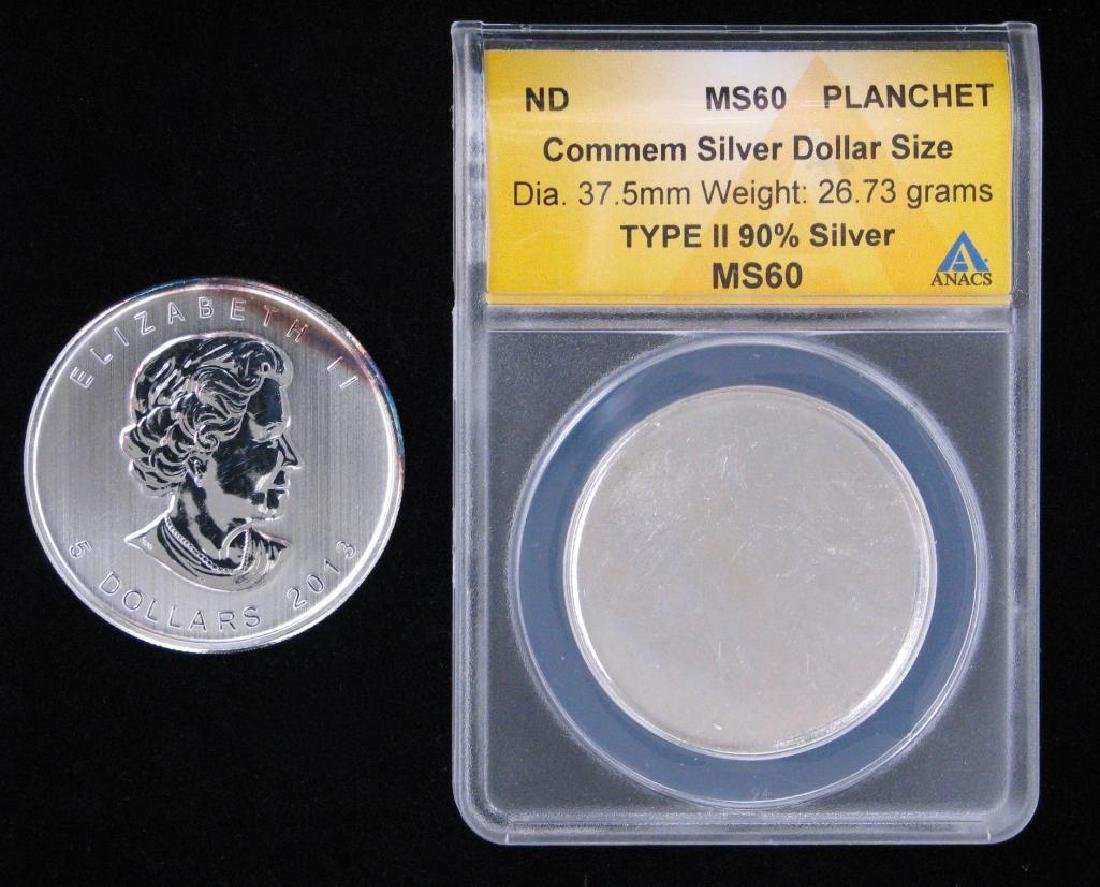 Lot of 2 : Commemorative Silver Dollar Planchet - Type