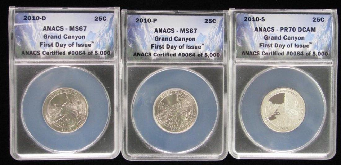 Lot of 3 : 2010 Commemorative Quarters - Grand Canyon,