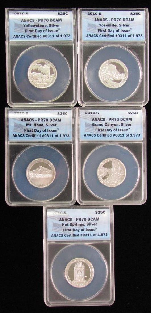 Lot of 5 : 2010-S America's National Park Commemorative