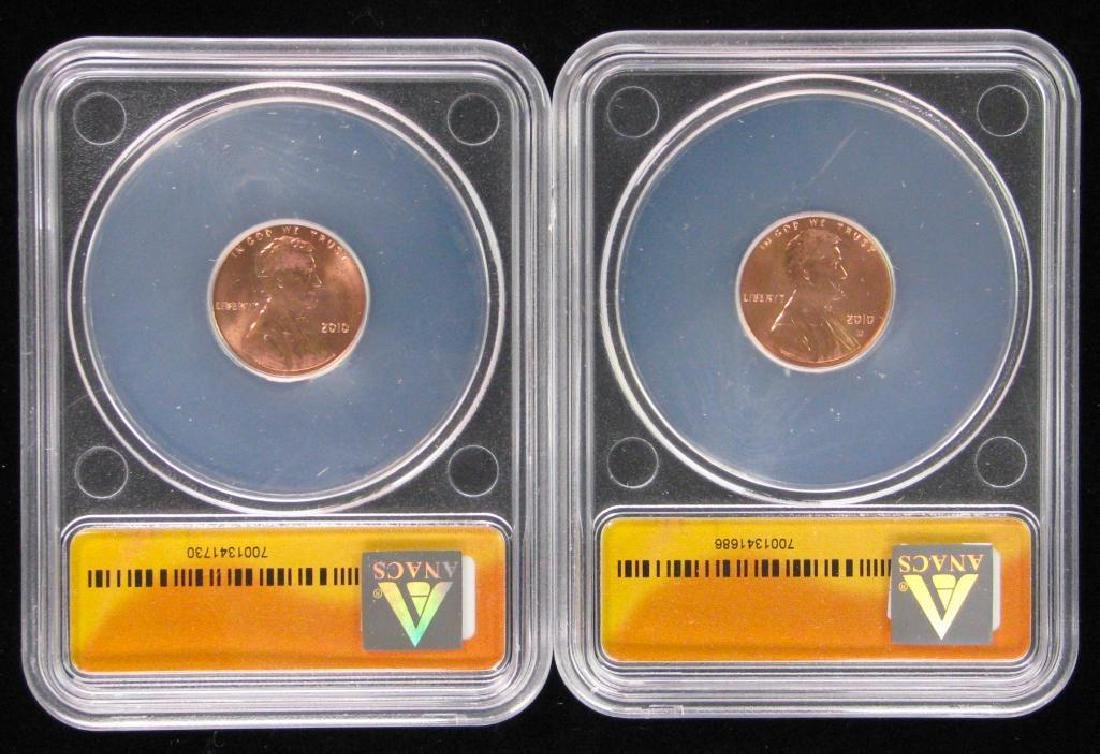 Lot of 2 : 2010 Shield Reverse Lincoln Cents