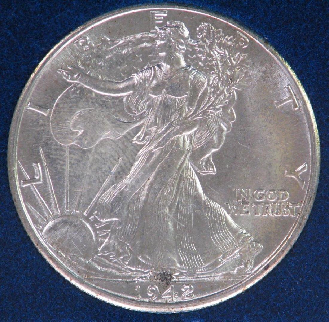 1942-P Walking Liberty Half Dollar - Uncirculated