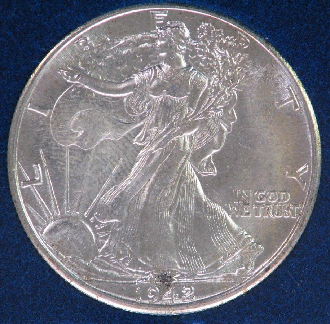 1942-P Walking Liberty Half Dollar - Uncirculated