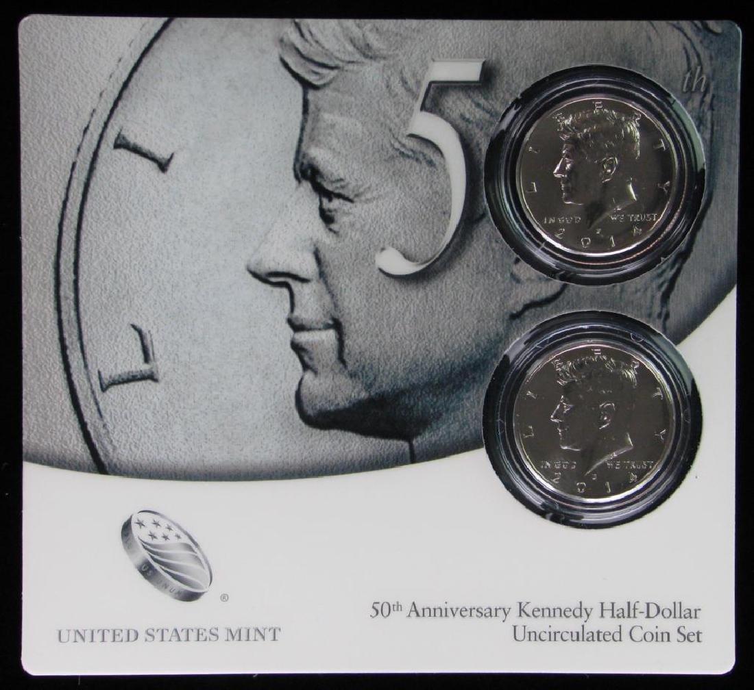 50th Anniversary Kennedy Half Dollar Uncirculated Coin