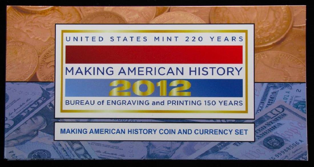 2012 Coin and Currency Set : American Silver Eagle - 4